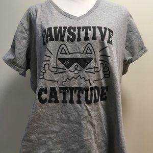 ModCloth Positive Cat Shirt